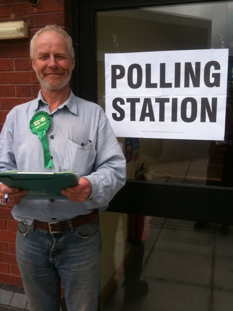 Henry at polling station