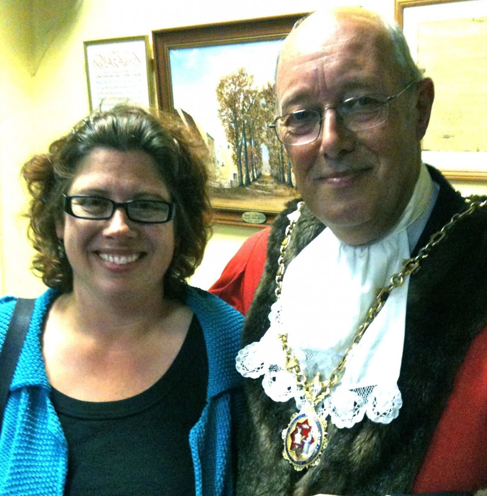 With Vernon Whitlock - the new Mayor of Honiton