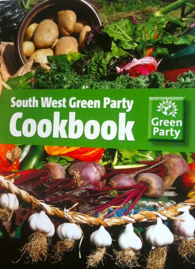 We launched the new Green Party cookbook at the festival and it went down very well