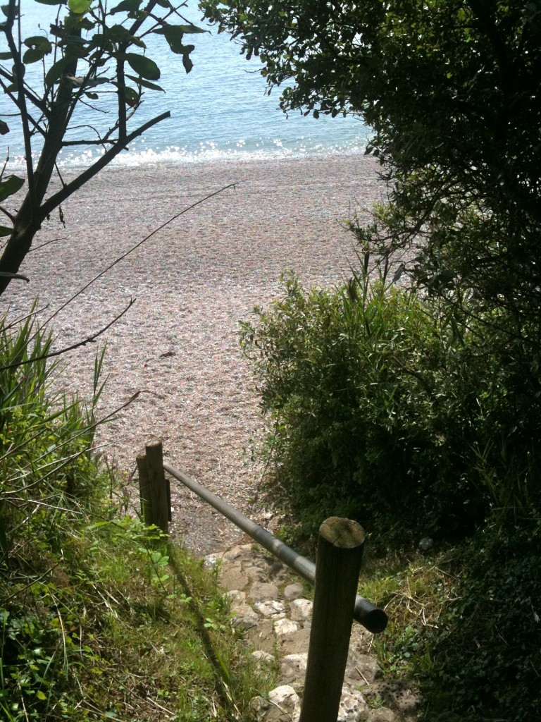 Beautiful Branscombe beach on a sunny day last summer