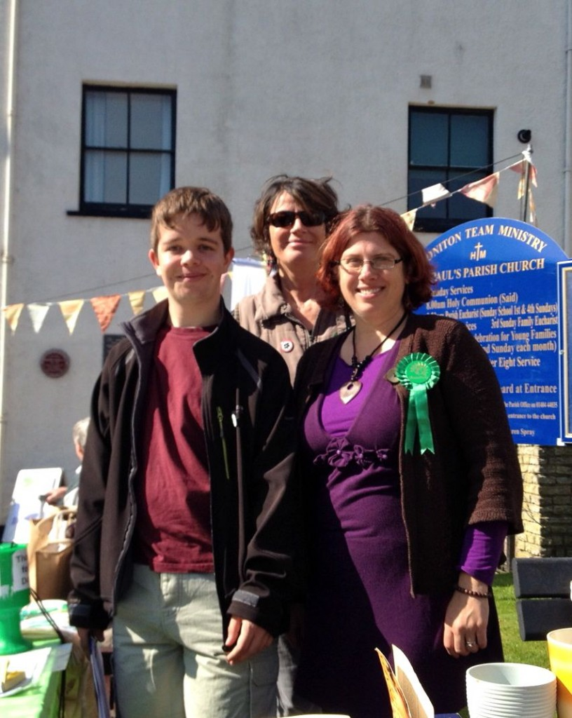 Ben, me & Ana at the back on our stall in Honiton this morning
