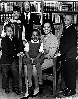 Martin & Coretta with their four children, Yolanda, Martin, Dexter and Bernice
