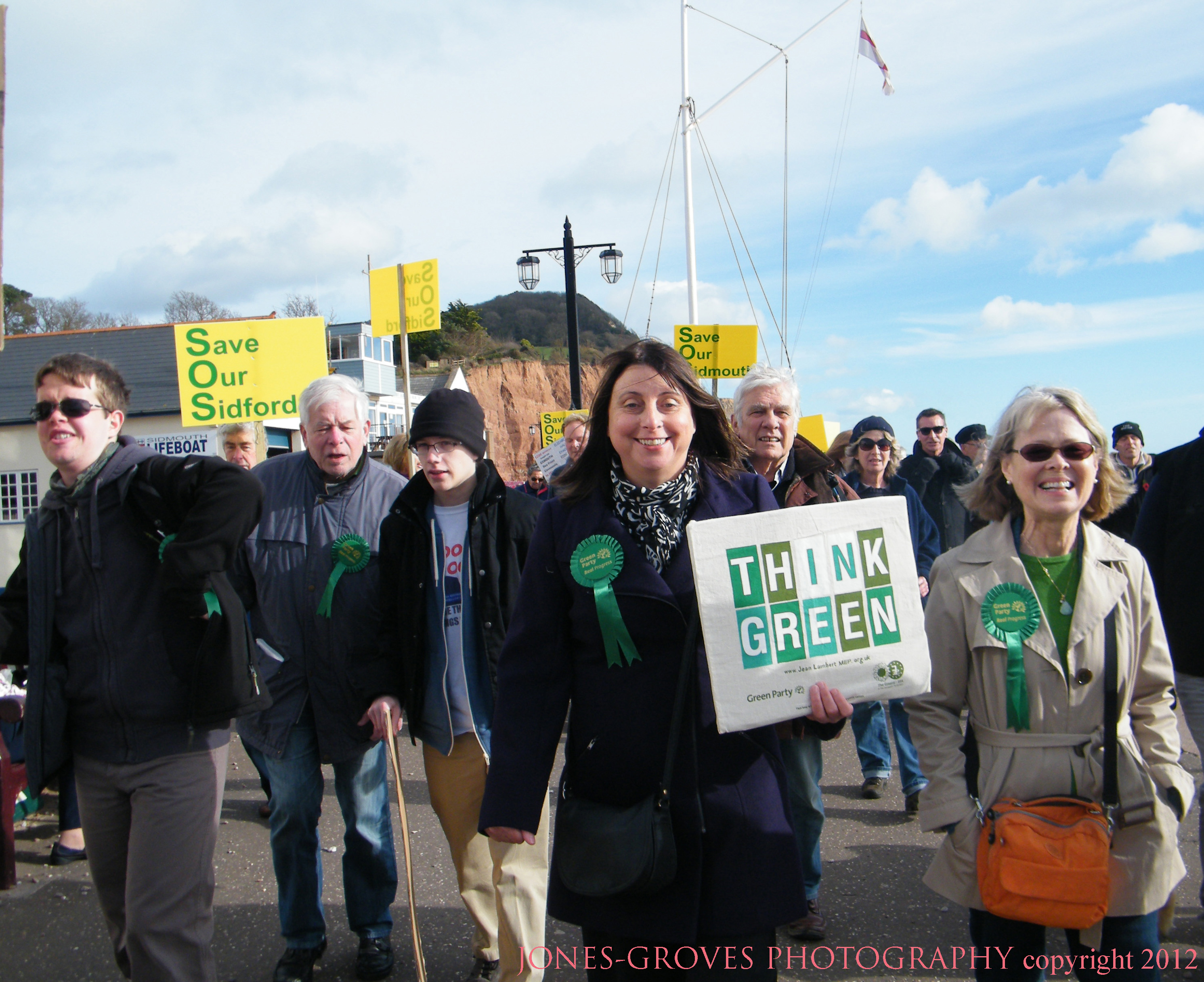 Green Party members at the recent Sidmouth March