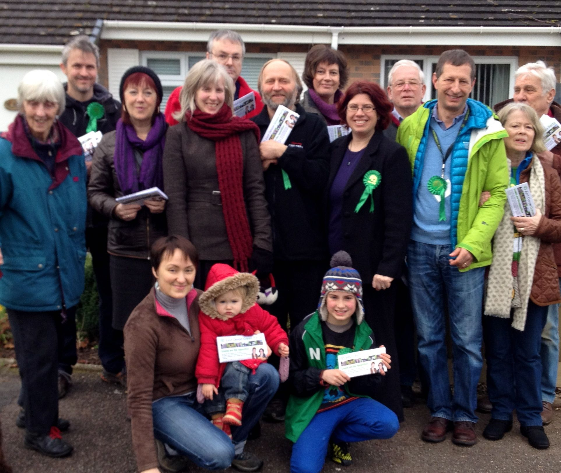 We had 23 members and supporters at our Honiton Action Day on February 16th 2013