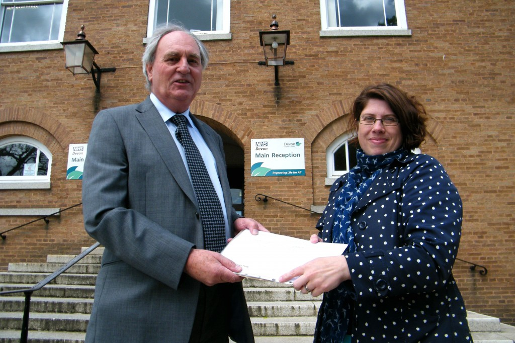 Handing St Michaels Petition in