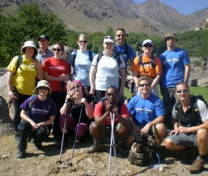 Rainbow trek in Morocco (I'm in yellow)